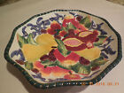VIintage FITZ & FLOYD Oval Vegetable Bowl in Florentine Fruit