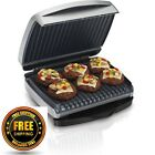 Hamilton Beach Indoor Grill with Removable Grids, Silver For Low-Fat Grilling