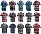 Mens  Ablanche  Short Sleeve Plaid Woven Shirts  XL to 6X See size chart