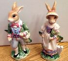 Fitz & Floyd 742414221243 Old World Rabbits Salt Pepper Shakers Easter Bunnies