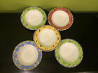 5 Sango Sangria Grape Cherries Lemon Plum Soup Bowl Plate Sue Zipkin 11