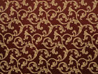 Jacquard Wine floral drapery fabric by the yard 56 bedding pillows upholstery