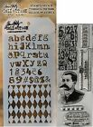 TIM HOLTZ stamp and stencil set SPECIAL DELIVERY Letters Numbers Man THMM104