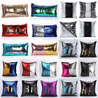 Reversible Sequin Cushion Cover Glitter Square Pillow Case Seat Sofa Floor Decor
