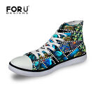Cool Animal Mens Shoes Fashion Casual Canvas Sneakers Running Shoes Lace up