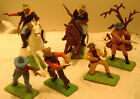 Britains Ltd. Deetail Wild West Cavalry and Cowboy lot of 6 Figures 54mm