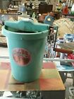 Vintage maid of honor four quart ice-cream freezer sears roebuck aqua hand crank