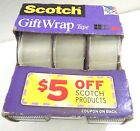 Scotch Gift Wrap 25ydsTape 075 x 300 3pk Photo Safe