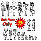 Family Stick Figure Decal Car Window Sticker 099 per Figure