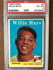 1958 TOPPS BASEBALL # 5 WILLIE MAYS PSA 4 VG-EX