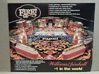 Williams 1987 FIRE! ORIGINAL PROMOTIONAL PINBALL POSTER