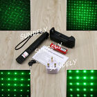 Laser Pointer 532nm Green Light pen Focus Lazer+UK Charger 18650 Battery New