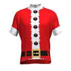 SANTA CLAUS Team Cycling Jersey Retro Road Pro Clothing MTB Short Sleeve Riding