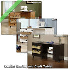 Sauder Sewing and Craft Table Wood Storage Cabinets Organizer Tables with Wheels