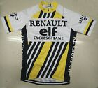 RENAULT ELF Team Cycling Jersey Retro Road Pro Clothing MTB Short Sleeve Riding