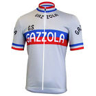 GAZZOLA Team Cycling Jersey Retro Road Pro Clothing MTB Short Sleeve Riding Bike