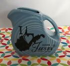 Fiestaware Periwinkle Mini Disc Pitcher - Fiesta Blue I Love West Virginia