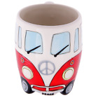 Volkswagen Red Ceramic Shaped Coffee Mug Cup VW Camper Van Bully T1