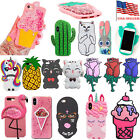 New Cute 3D Cartoon Animal doll Silicone Rubber Case Cover For iPhone 5s 6s 7 8+