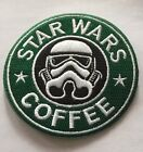 STAR WARS Storm Trooper Starbucks Logo Embroidered Iron On Patch 325