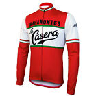 LA CASERA BAHAMONTES Cycling Jersey Retro Fleece Pro Clothing MTB Long Sleeve