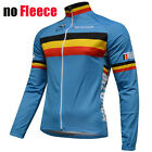 BELGIUM Team Cycling Jersey Retro Road Pro Clothing MTB Long Sleeve Bike Riding