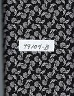 QUILT FABRIC 100 COTTON BLACK  WHITE 49104 B By the Yard
