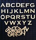 WOODEN LASER CUT SHAPES ALPHABET LETTERS  NUMBERS Made in USA 1 2 Height