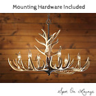 6 Light Whitetail Antler Chandelier Decorative Chain Hanging Hardware Included