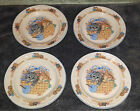 4 Tienshan PURRFECT FRIENDS Cats / Kittens Lunch / Salad Plates
