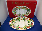 "Fitz & Floyd Noel Classique Oval Holiday Divided 3-Part Server (17"") Tray NIB"