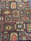 Vintage TRUE Mid Century AMAZING GEOMETRIC Carpet Rug  Remanent