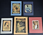 5 Small Pictures Paris France Room Decor Crescent Cycles Diaphane Meuse