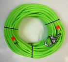 3 8 x 85 ft Neon Green Dacron Polyester Halyard Spliced in S S Snap Shackle