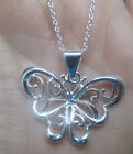 Silver Butterfly Necklace Pendant