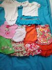 Baby Girl Lot Of Mix and Match Skorts shirts Size 12 Months