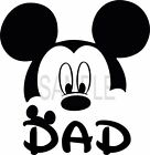 easy iron on Mickey Mouse Dad T Shirt Transfer 3 sizes to pick