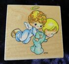 Angel Child PRECIOUS MOMENTS Baby First Step rubber stamp Girl Boy Stampendous