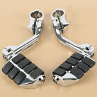 Chrome Long Angled Highway Foot Pegs Rest For 32mm 1 1/4