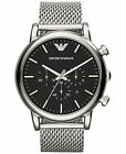 Emporio Armani Classic Watch Black/Stainless Steel Quartz Men's Watch AR1808