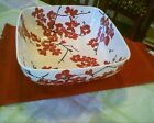 222 FIFTH MIA BLOSSOMS RED SERVING BOWL