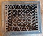 VINTAGE CAST IRON METAL FLOOR WALL REGISTER VENT HEATER GRATE LOUVERS RECTANGLE