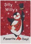 Silly Willys Favorite Day Fabric Book Panel ~ Penguin ~ Christmas ~ Susan Winget