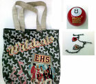 Lot of 3 Items HIGH SCHOOL MUSICAL  CHARM TOTE BAG 8 BALL Disney