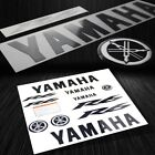 Full Sticker&3D Emblem Fairing/Fender Vinyl Decal for Yamaha YZF-R6 Black+Chrome