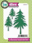 FREE SHIPPING Impression Obsession FIR TREES Die Set DIE084 V IO Stamps Cards