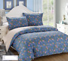 Duvet Cover Pillow Blue Flower Cover Bed Set Queen All Size Luxury Home FitOZ