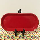 Fiestaware Scarlet Bread Tray Fiesta Red Oval Utility Serving Tray