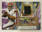 2014 Topps Supreme Football Autograph Patch 08 10 Johnny Manziel