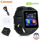 Black DZ09 Bluetooth Smart Watch Phone + Camera SIM Card For Android I